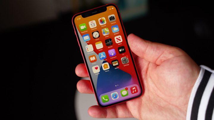 iPhone12 mini in hand