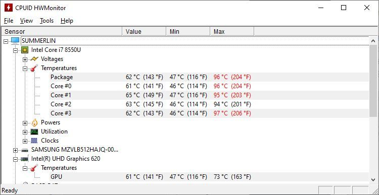 Stop laptop overheating