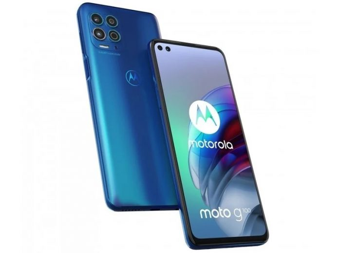 moto G100 front and back