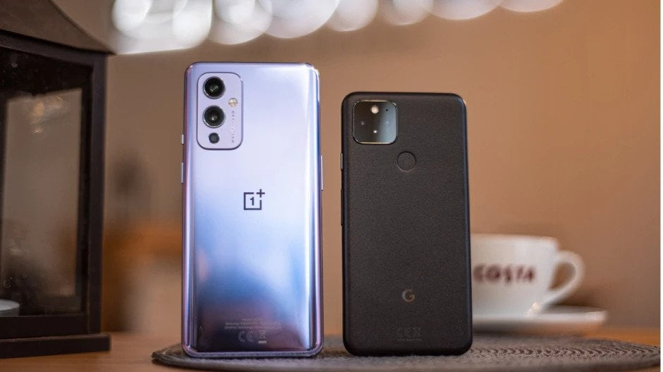 Oneplus 9 and Goggle pixel 5 rear