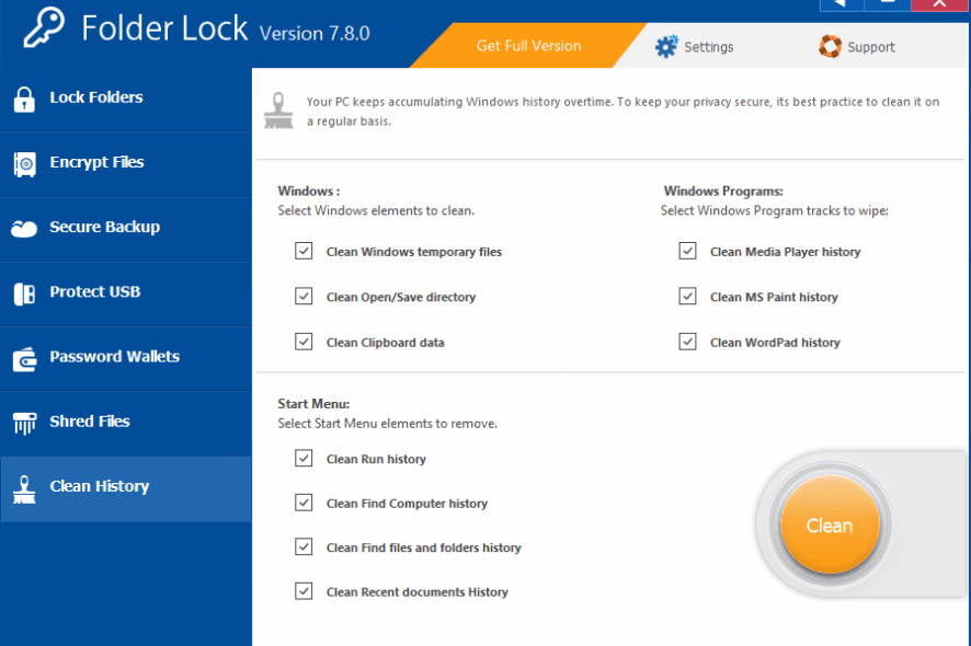 How to use folder lock for windows 10