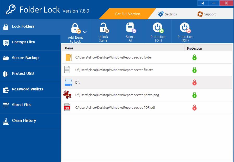 folder locker for windows 10