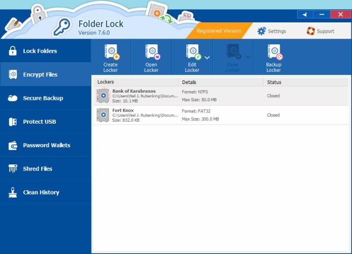 fold locker App for Windows 10