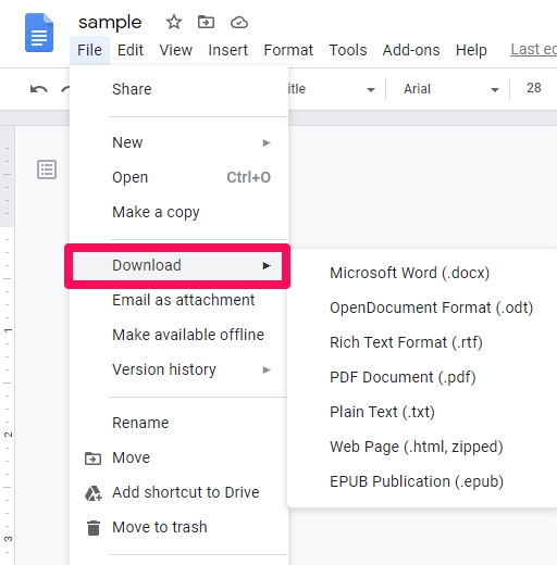How to save Word to Google Docs