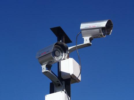 Fake cameras for security