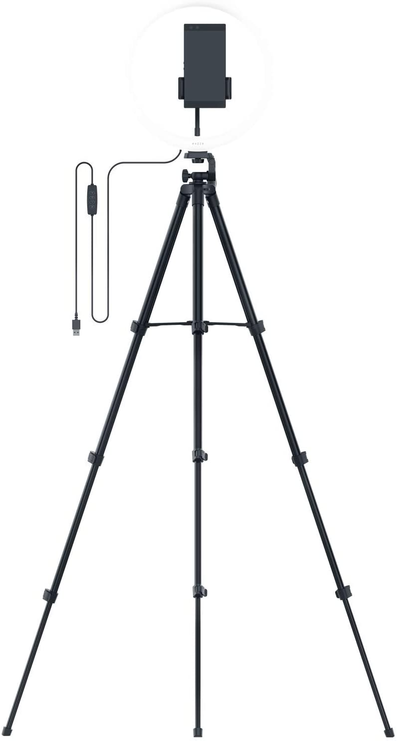 Top ring light with stand